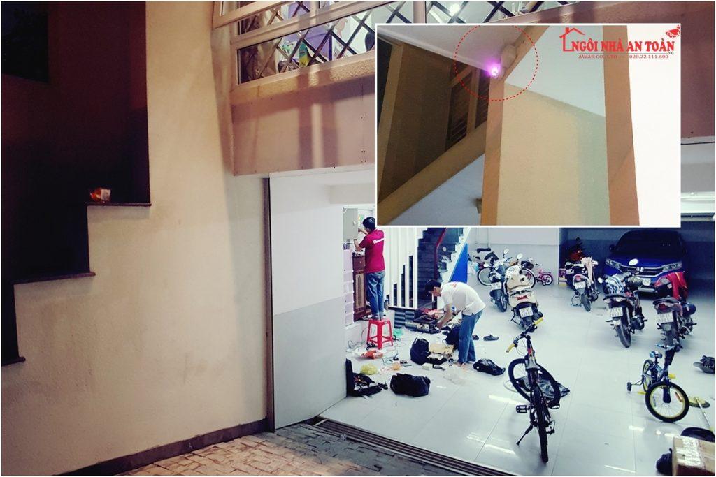 quá trình lắp đặt camera quan sát tại nhà quận Bình Tân