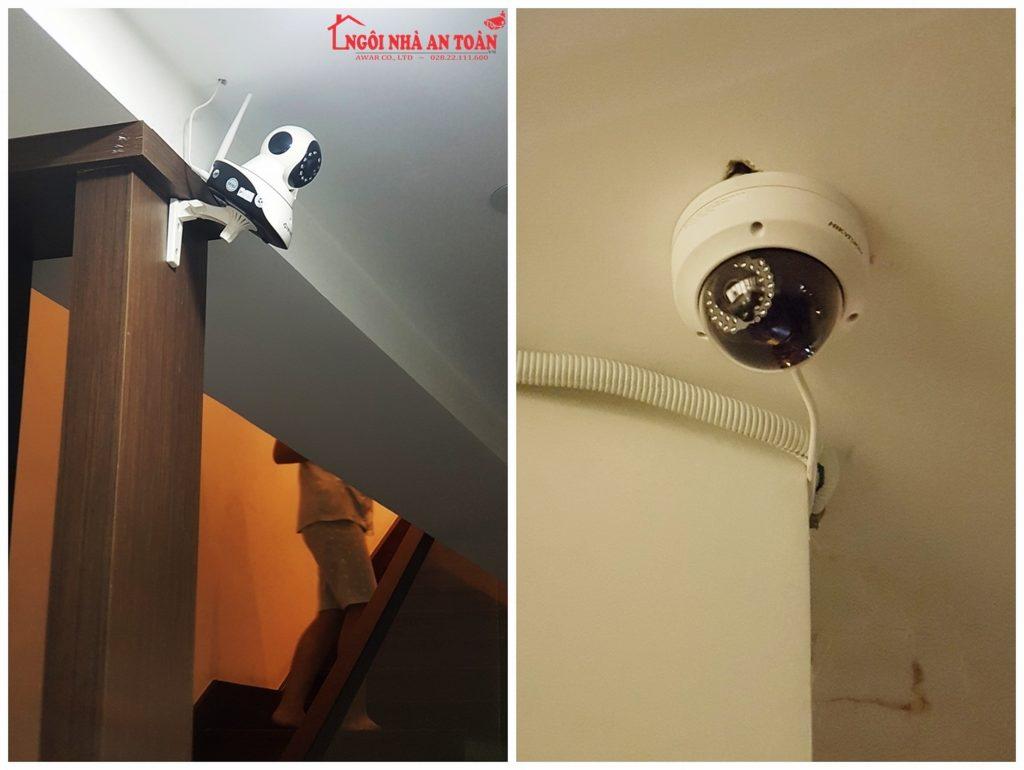 lắp đặt camera tại sân thượng