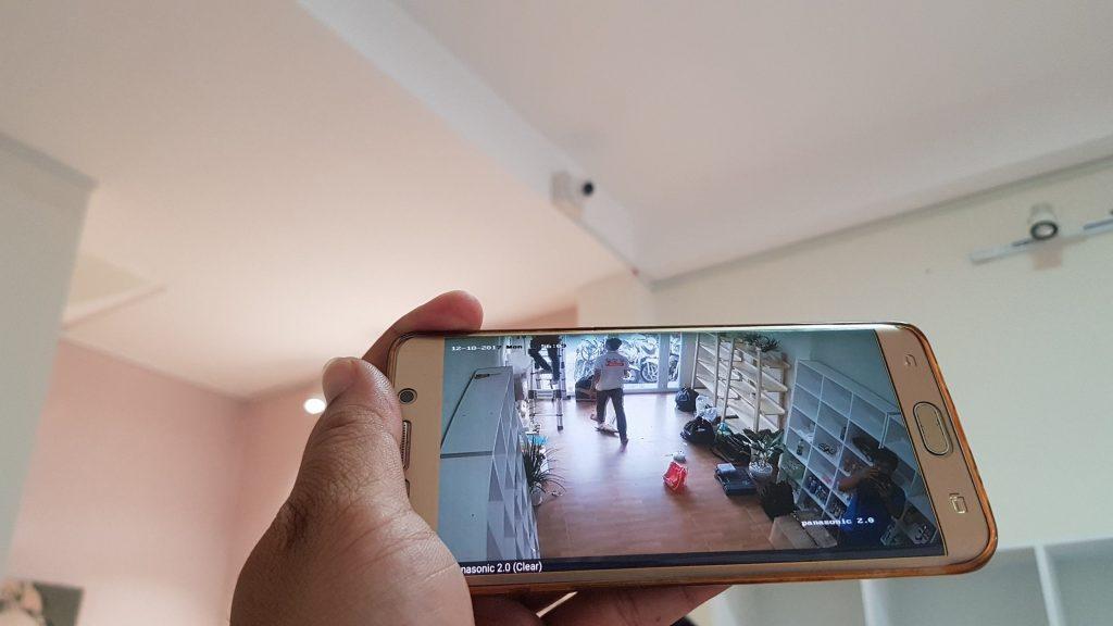 công trình lắp đặt camera 1.0MP shop mỹ phẩm