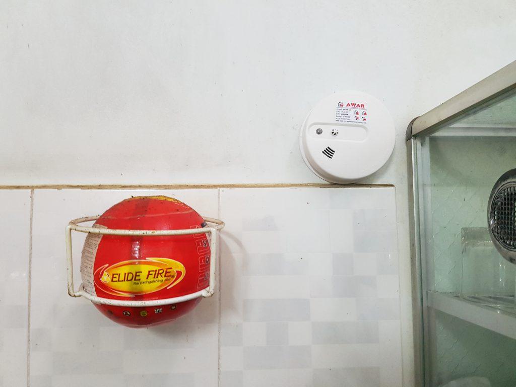 Thiết bị cảm biến báo khói - cháy và bóng chữa cháy Elide Fire tự động chữa cháy