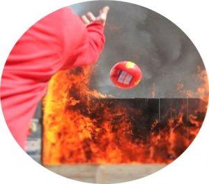 bóng chữa cháy bán tự động
