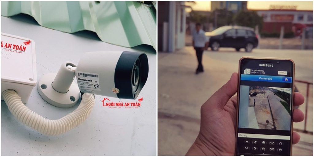 Camera panasonic CV-CPW2013L lắp đặt ngoài trời xem qua điện thoại với chức năng chống ngược sáng, chịu mưa nắng, chống nước tốt
