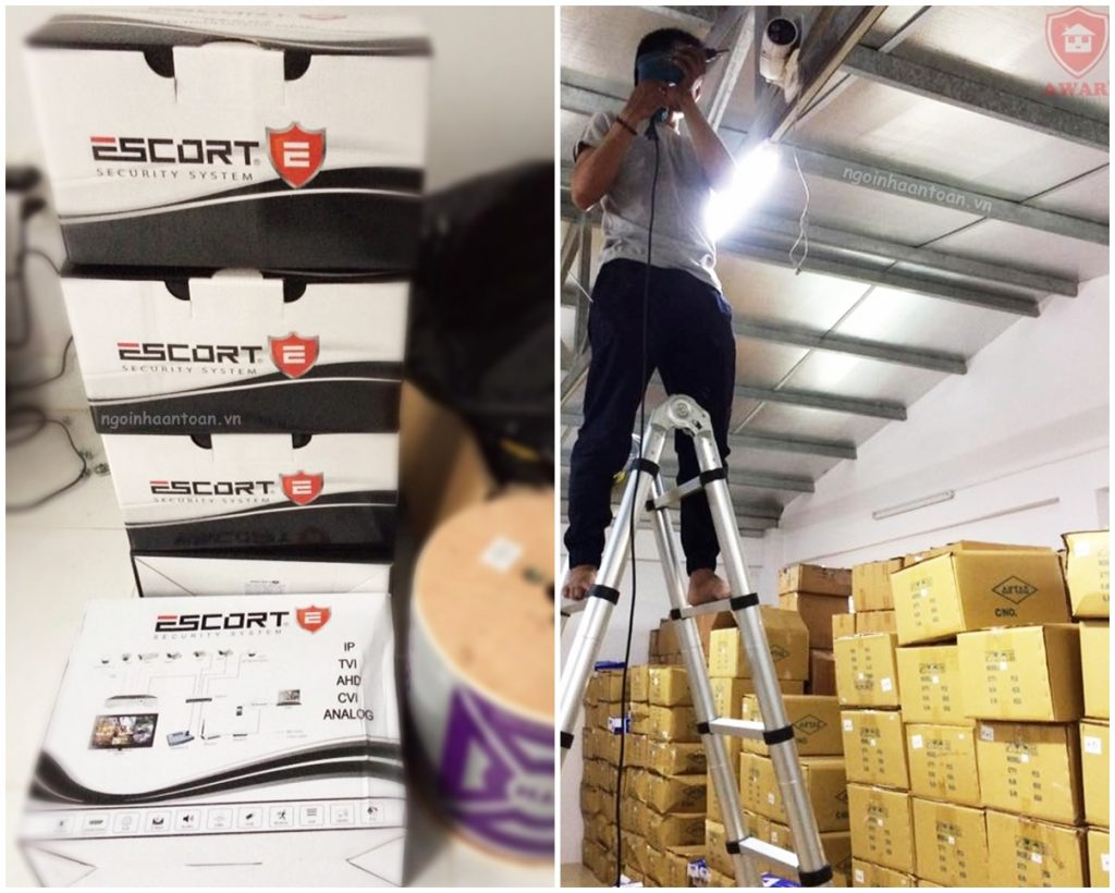 Lắp đặt camera giám sát kho của nhà xưởng