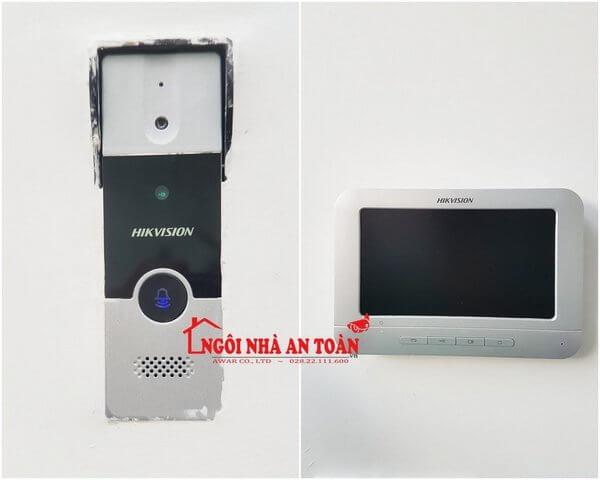 Bộ camera chuông cửa màn hình Hikvision
