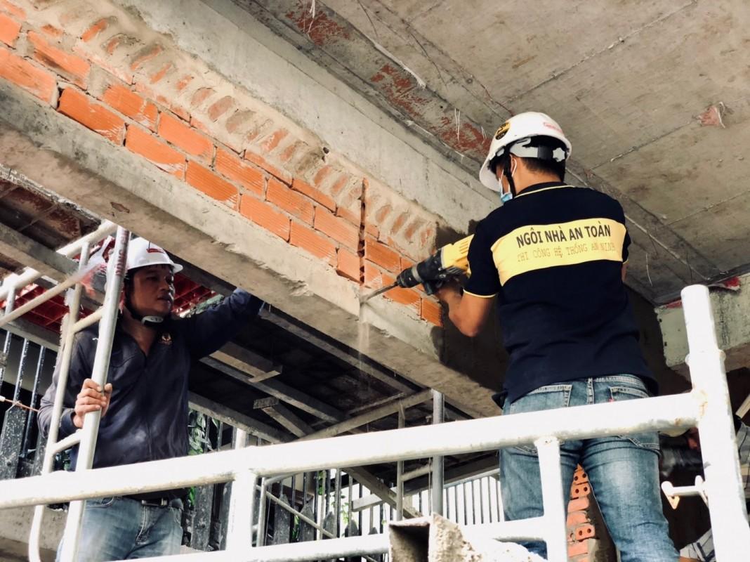 Kỹ thuật khoan cắt tường để đặt ống âm tường