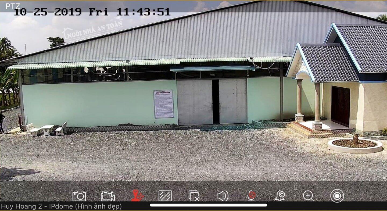 Hình ảnh camera PTZ quan sát nhà xưởng qua điện thoại