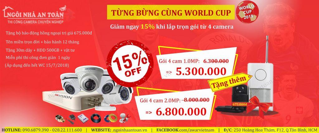 Khuyến mãi lắp đặt camera world cup