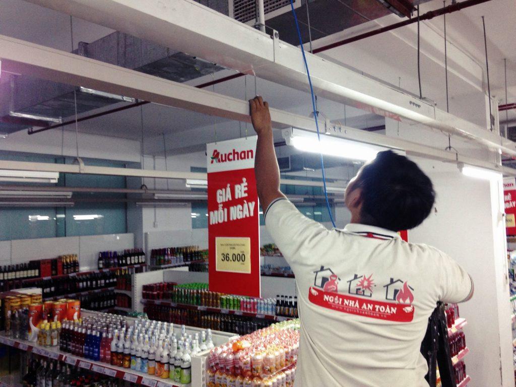 Thi công hệ thống camera siêu thị Auchen