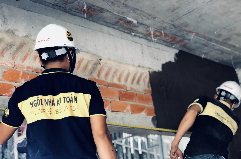 Lắp đặt camera giai đoạn xây nhà